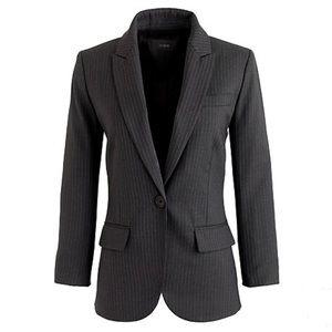 Sidney jacket in pinstripe Super 120s merino wool
